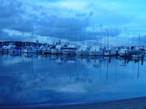 Boats and reflections, Royal Perth Yacht Club